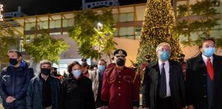 Ο Δήμαρχος Αμαρουσίου Θεόδωρος Αμπατζόγλου φωταγώγησε το Χριστουγεννιάτικο Δέντρο του Δήμου στην πλατεία ΗΣΑΠ